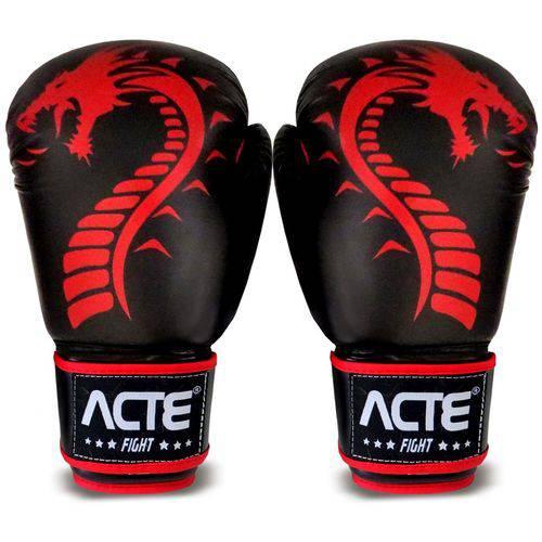 Luvas de Boxe Dragon P3 Acte Sports - Preto e Vermelho 12oz