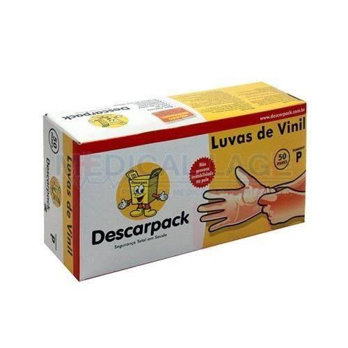 Luvas Vinil Descarpack S/talco Tamnho P /100 Unidades