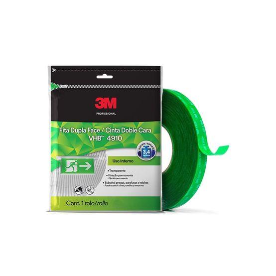 3M™ Fita Adesivo Acrilico Transf. 4910 Transparente 15MMx20M
