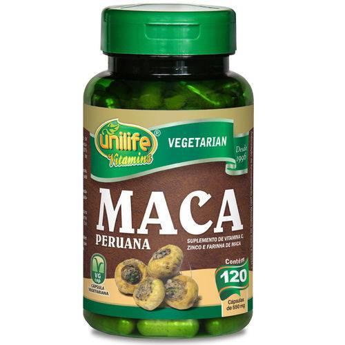 Maca Peruana com Vitaminas 500 Mg 120 Capsulas Unilife