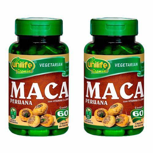 Maca Peruana com Vitaminas - 2 Un de 60 Cápsulas - Unilife