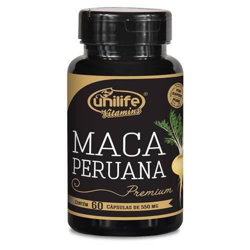 Maca Peruana Premium 100% Pura Unilife 60 Cápsulas