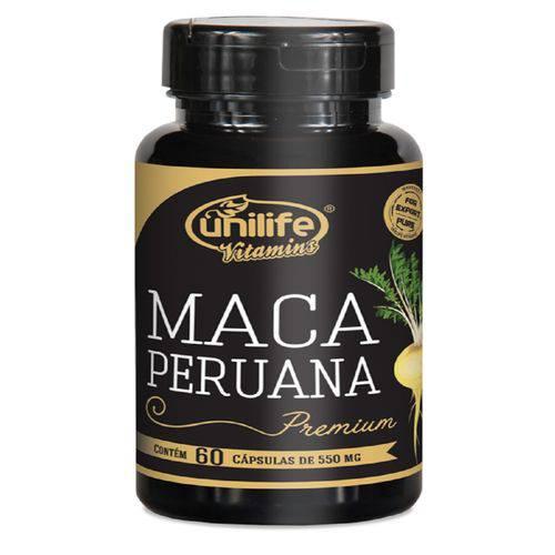 Maca Peruana Premium Pura Unilife 60 Capsulas 550mg