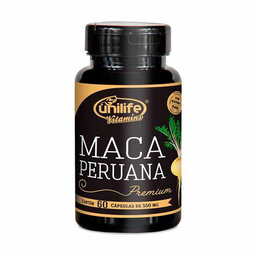 Maca Peruana Premium Selecionada - Unilife - 60 Cápsulas de 550mg
