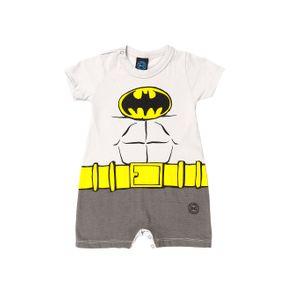 Macacão Batman Infantil para Bebê Menino - Cinza P