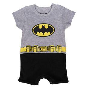 Macacão Batman Infantil para Bebê Menino - Cinza/preto M
