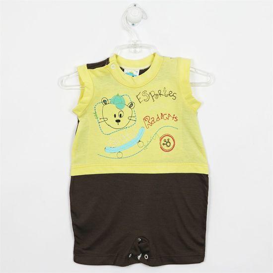 Macacão Bebê Masculino Curto Regata Amarela-M