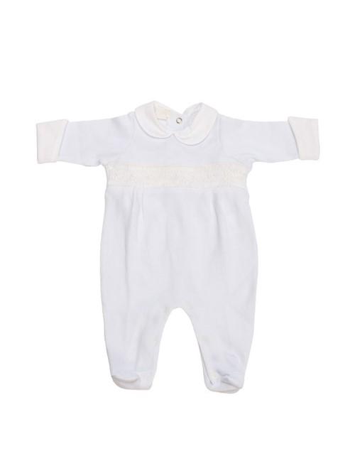Macacão Cotton Baby Branco Tamanho M