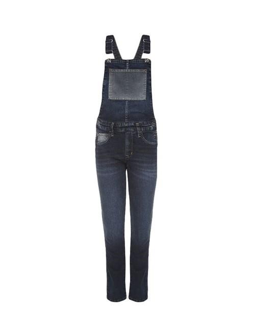 Macacão Infantil Calvin Klein Jeans Bolso Contraste Azul Médio - 8