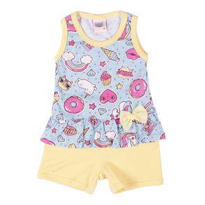 Macacão Infantil para Bebê Menina - Azul M