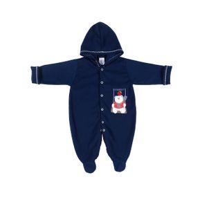 Macacão Infantil para Bebê Menina - Azul RN