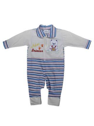 Macacão Infantil para Bebê Menina - Azul