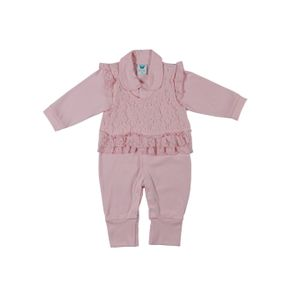 Macacão Infantil para Bebê Menina - Rosa G