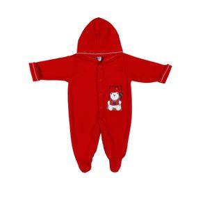 Macacão Infantil para Bebê Menina - Vermelho G