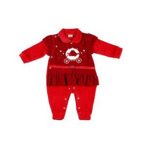 Macacão Infantil para Bebê Menina - Vermelho M