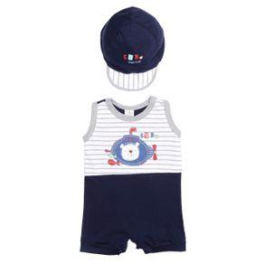 Macacão Infantil para Bebê Menino - Azul G