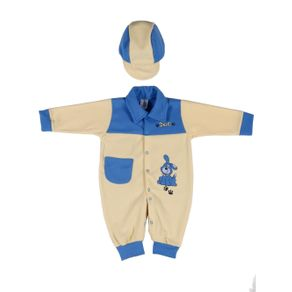 Macacão Infantil para Bebê Menino - Azul M