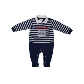 Macacão Infantil para Bebê Menino - Azul P