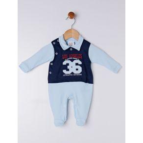 Macacão Infantil para Bebê Menino - Azul RN