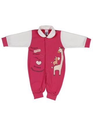 Macacão Infantil para Bebê Menino - Rosa