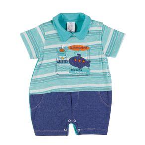 Macacão Infantil para Bebê Menino - Verde G