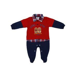 Macacão Infantil para Bebê Menino - Vermelho/azul M