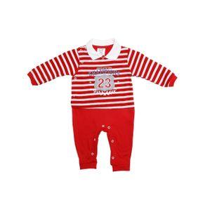 Macacão Infantil para Bebê Menino - Vermelho G