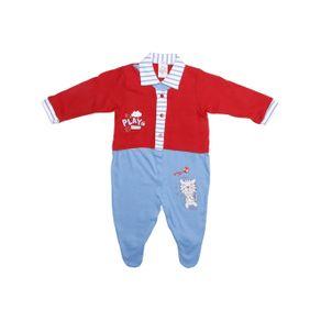 Macacão Infantil para Bebê Menino - Vermelho M