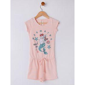 Macacão Infantil para Menina - Laranja 10