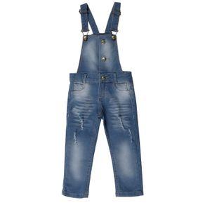 Macacão Jardineira Infantil para Menina - Azul 1
