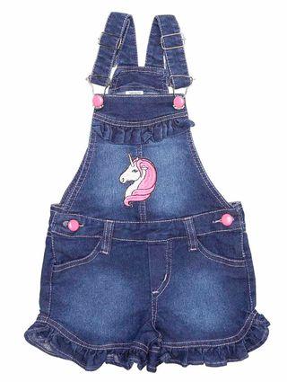 Macacão Jardineria Infantil para Menina - Azul