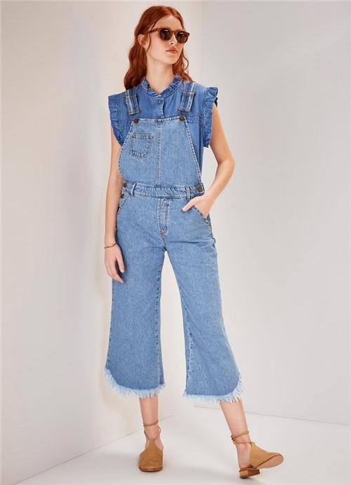 Macacão Jeans Cropped Mandacaru JEANS G