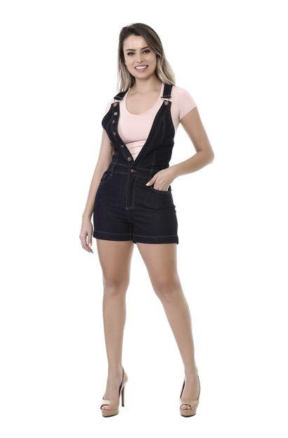 Macacão Jeans Feminino Azul - 261818 36