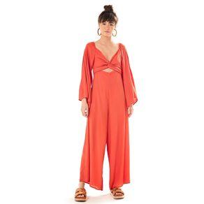 Macacao Pantalona Vermelho Hindu - P