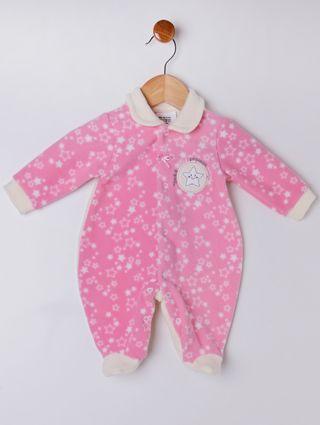 Macacão Soft Infantil para Bebê Menina - Rosa
