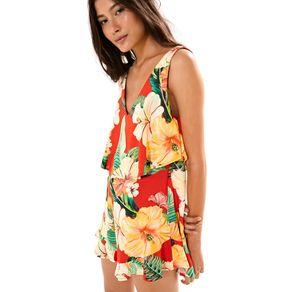 Macaquinho Babado Chita Tropical Est Chita Tropical_Mini_v - M