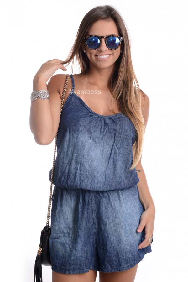 Macaquinho Jeans MC0005 - M