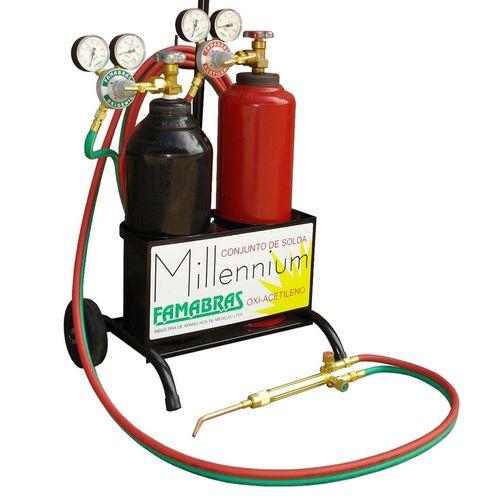 Maçarico Conjunto de Solda PPU Acetileno e Oxigênio Millennium Famabras