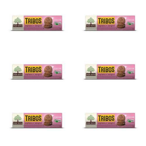 Mãe Terra Tribos Biscoito Orgânico Cacau 130g (kit C/06)