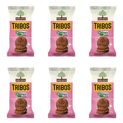 Mãe Terra Tribos Biscoito Orgânico Cacau 16,5g (kit C/06)