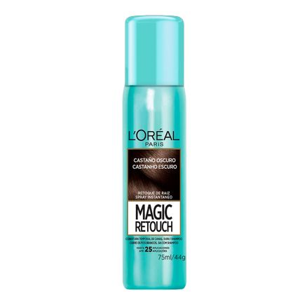 Magic Retouch L'oréal Castanho Escuro Spray Instantâneo para Retoque de Raiz 75ml