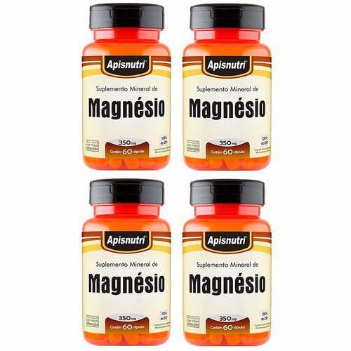 Magnésio - 4 Un de 60 Cápsulas - Apisnutri