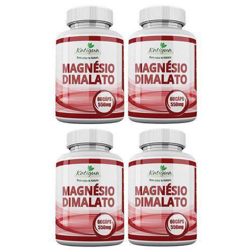 Magnésio Dimalato - 4x 60 Cápsulas - Katigua
