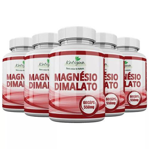 Magnésio Dimalato - 5x 60 Cápsulas - Katigua