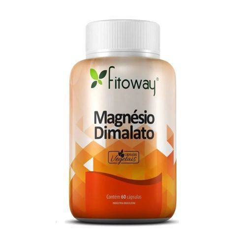 Magnésio Dimalato - 60 Cápsulas - Fitoway