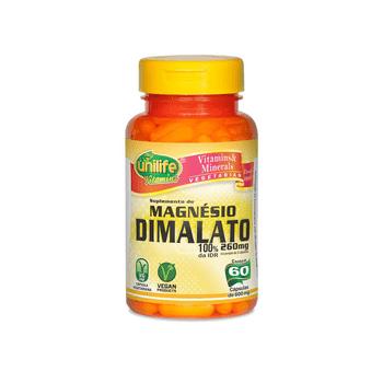 Magnésio Dimalato 60 Cápsulas Unilife