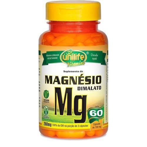 Magnésio Dimalato 700mg 60 Capsulas Unilife