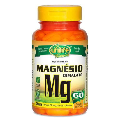Magnésio Dimalato (700mg) 60 Cápsulas Vegetarianas- Unilife