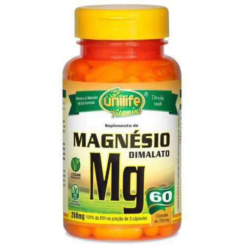 Magnésio Dimalato Unilife - 60 Cápsulas 700mg