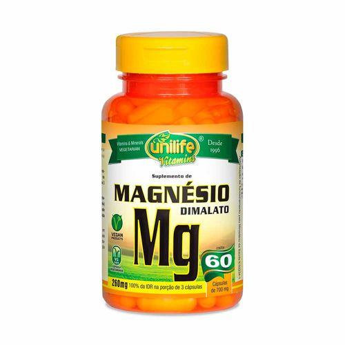 Magnésio Dimalato - Unilife - 60 Cápsulas de 700mg